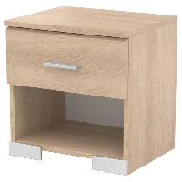 Chevet COSMOS Chevet avec 1 tiroir - Contemporain - Decor chene brooklyn - L 39.5 cm