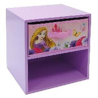 Chevet Fun House Disney princesses chevet avec 1 tiroir pour enfant - Jemini