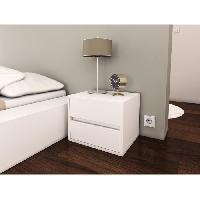 Chevet POP Chevet contemporain mélaminé blanc mat - L 40 cm - Generique