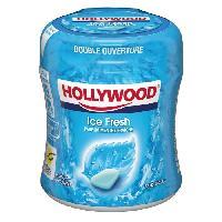 Chewing-gum - Boule De Gomme - Pate A Macher Hollywood Easy Box Chewing- gum Menthe Polaire sans sucre - Boite de 60 dragees - 87g