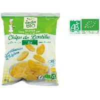 Chips JARDIN BIO Chips de lentilles a la pointe de sel bio - 50 g