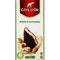 Chocolat En Tablette Cote d'Or fourres fins Noir Pate d'Amande 150g