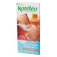 Chocolat En Tablette KARELEA Chocolat au lait - Sans sucre ajoute - 100 g