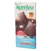 Chocolat En Tablette KARELEA Chocolat noir aux noisettes - Sans sucre ajoute - 150 g