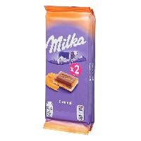 Chocolat En Tablette Milka Caramel 2 x 100 gr.