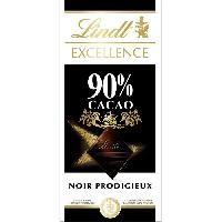 Chocolat En Tablette Tablette de Chocolat Lindt Excellence Noir 90 - 100G