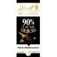 Chocolat En Tablette Tablette de Chocolat Lindt Excellence Noir 90 - 100G - Aucune