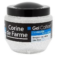 Cire - Pate - Gelee Coiffante - Gel Fixateur - Lait Coiffant CORINE DE FARME Gel Coiffant - Effet mouille - 250 ml