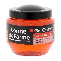 Cire - Pate - Gelee Coiffante - Gel Fixateur - Lait Coiffant CORINE DE FARME Gel coiffant - Fixation Extra-Forte - 250 ml