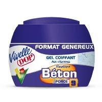 Cire - Pate - Gelee Coiffante - Gel Fixateur - Lait Coiffant Gel coiffant aux vitamines Beton Force 9 - Format genereux - 200 ml