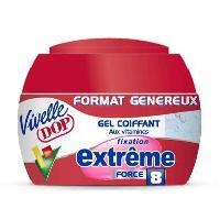 Cire - Pate - Gelee Coiffante - Gel Fixateur - Lait Coiffant Gel coiffant aux vitamines Extreme Force 8 - Format genereux - 200 ml