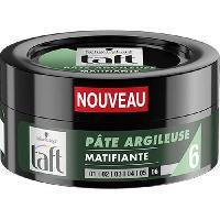 Cire - Pate - Gelee Coiffante - Gel Fixateur - Lait Coiffant Pate Coiffante Argileuse Matifiante Taft - 75 ml