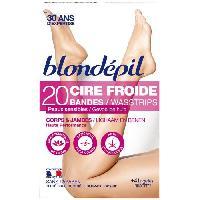 Cire D'epilation - Kit Cire D'epilation BLONDEPIL 20 bandes de cire froide Haute Performance - Pour corps et jambes