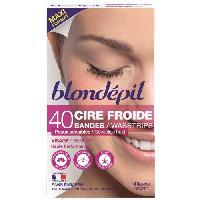 Cire D'epilation - Kit Cire D'epilation BLONDEPIL 40 bandes de cire froide Haute Performance - Pour visage