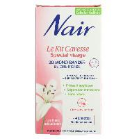Cire D'epilation - Kit Cire D'epilation NAIR Cire froide Le Kit Caresse Spécial visage - 20 mono-bondes