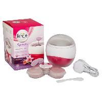 Cire D'epilation - Kit Cire D'epilation VEET - Chauffe-cire électrique Spawax Kit - Blanc et rose