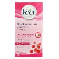 Cire D'epilation - Kit Cire D'epilation VEET Bandes de Cire - Peaux Normales Maxi format