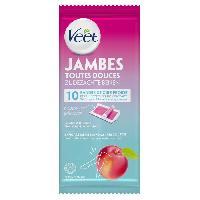 Cire D'epilation - Kit Cire D'epilation VEET Bandes de Cire Jambes - Nectarine