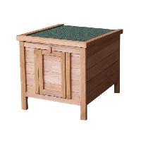 Clapier Clapier en bois Pierrot 42x51x43 cm - Pour lapin - Generique