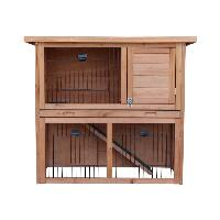 Clapier Clapier en bois pour lapin Diego 92x45x81 cm - Pour lapin - Generique