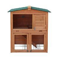 Clapier Clapier en bois pour lapin Jeanot 90x54.5x99.6 cm - Pour lapin - Generique