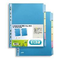 Classement - Archivage 2 intercalaires neutres Color Life - A4 - 6 positions - 220g - Coloris assortis