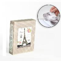 Classement - Archivage Album photo 10 x 15 cm - 100 vues - Boitier motif Paris - 26 x 20.5 x 5.5 cm - Aucune