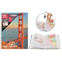 Classement - Archivage Album photo a pochettes rigides - 100 photos - 10 x 15 cm - Imprimé pont - Aucune