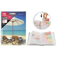 Classement - Archivage Album photo a pochettes rigides - 100 photos - 10 x 15 cm - Imprime sable - Aucune