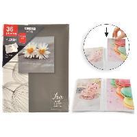 Classement - Archivage Album photo a pochettes rigides - 36 photos - 10 x 15 cm - Fleurs - Aucune