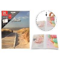 Classement - Archivage Album photo a pochettes rigides - 36 photos - 10 x 15 cm - Sable - Aucune