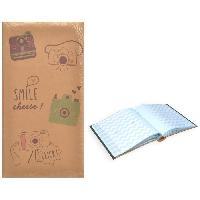 Classement - Archivage Album photo rigide Kraft avec Mémo - 300 photos - 11 x 15 cm - Smile Cheese - Aucune