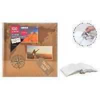 Classement - Archivage Album photo rigide Mémo - 100 photos - 10 x 15 cm - Imprimé - Marron - Aucune