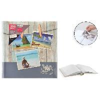 Classement - Archivage Album photo rigide Memo - 200 photos - 10 x 15 cm - Imprime - Gris - Aucune
