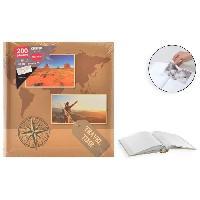 Classement - Archivage Album photo rigide Memo - 200 photos - 10 x 15 cm - Imprime - Marron - Aucune