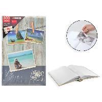 Classement - Archivage Album photo rigide Memo - 300 photos - 10 x 15 cm - Imprime - Gris - Aucune