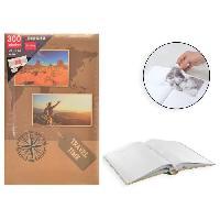 Classement - Archivage Album photo rigide Mémo - 300 photos - 10 x 15 cm - Imprimé - Marron - Aucune
