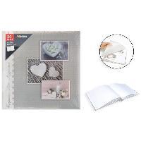Classement - Archivage Album photo traditionnel - 30 pages - 60 cotes - Imprime coeur - Aucune