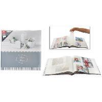 Classement - Archivage Album photo traditionnel - 40 pages - 80 côtés - Gris - Aucune