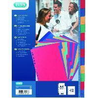 Classement - Archivage ELBA Intercalaires - 12 positions - 24x32