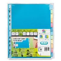 Classement - Archivage ELBA Intercalaires neutres color A4xl - 12 positions - Couleurs assorties
