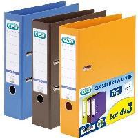 Classement - Archivage ELBA Lot de 3 classeurs a levier - A4 - dos 80 mm