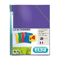 Classement - Archivage ELBA Lot de 4 chemises 21 x 29.7 cm Color Life - Carte lustree pelliculee - Coloris assortis