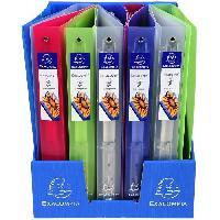 Classement - Archivage EXACOMPTA - Classeur Extra Large - 24.2 x 29.7 - 4 anneaux - Polypropylene translucide 7/10eme - 5 couleurs aléatoires