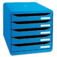 Classement - Archivage EXACOMPTA Module de classement Big Box - 5 tiroirs - Bleu glacé punchy