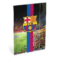 Classement - Archivage FC BARCELONA Chemise a elastique Folio - 3 rabats en carton - Camp nou