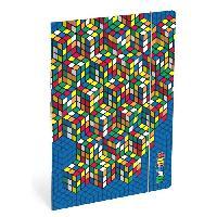 Classement - Archivage RUBIK'S Chemise a elastique Folio - 3 rabats en carton - Bleu