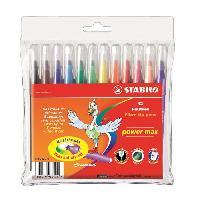 Classement - Archivage STABILO Pochette souple de 12 Feutres de coloriage Power max