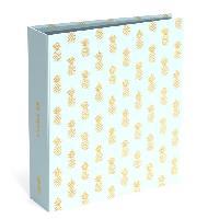 Classement - Archivage SWEET et GOLD Classeur a levier Ananas gold - Dos 8 cm - Bleu
