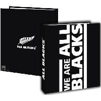 Classeur ALL BLACKS Classeur A4 - Couverture carton rigide - 4 anneaux metal - 26 x 32 cm